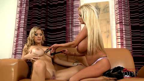 Sharon sevice's Carol's strap-on!