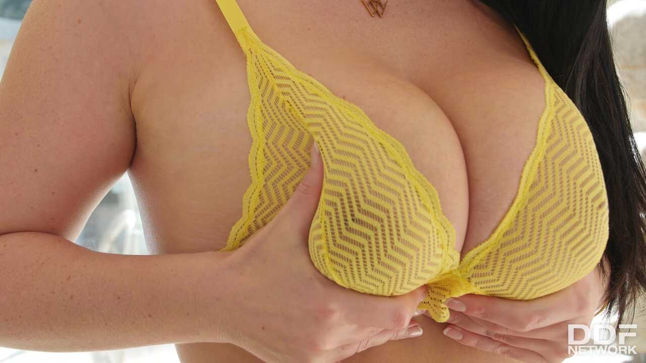 Toy Time for Busty Brunette